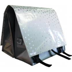Large LUXE 45L polka silver