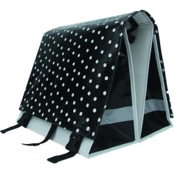 Large LUXE 45L polka black