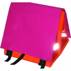 Large LUXE 45L pink-orange-red