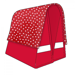 Large LUXE 45L polka red