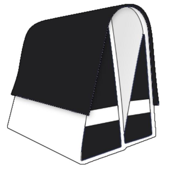 Large LUXE 45L black-white-black