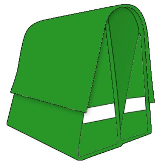 Large LUXE 45L kawasaki groen