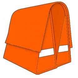 Large LUXE 45L orange