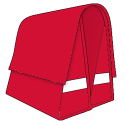 Large LUXE 45L red