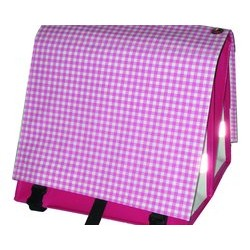 Large LUXE 45L pepita pink