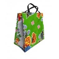 Shopper Mexican oilcloth chrysant green
