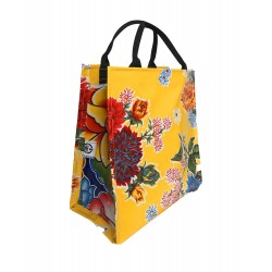 Shopper Mexican oilcloth chrysant yellow