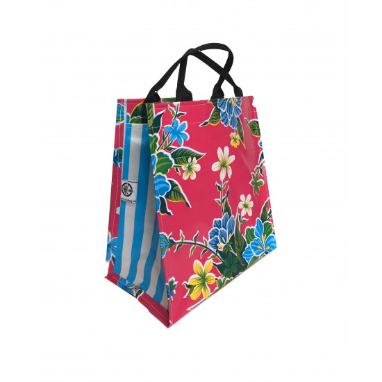 Shopper Mexican oilcloth fortin pink