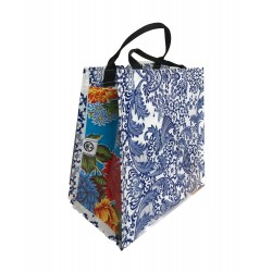 Shopper Mexican oilcloth paraiso blue