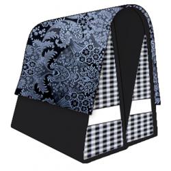 Mexi Kidz Barok Black - Double bicycle bag 21L