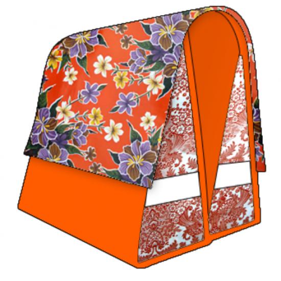 Mexi Kidz Fortin Orange - Double bicycle bag 21L