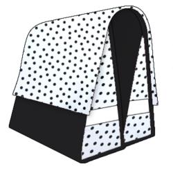 Mexi Kidz Polka White - Double bicycle bag 21L