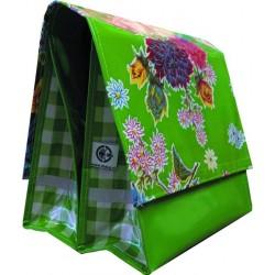Mexi Kidz Chrysant Green - Double bicycle bag 21L