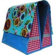 Mexi Kidz Floral Aqua - Double bicycle bag 21L