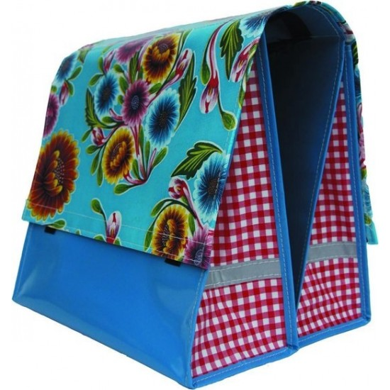 Mexi Kidz Floral Aqua - Double bicycle bag 21L