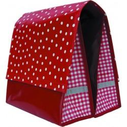Mexi Kidz Polka Red - Double bicycle bag 21L