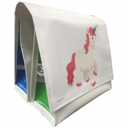 Double Children's Bicyclebag Unicorn White 18L