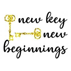 Postcard Design New Key New Beginnings