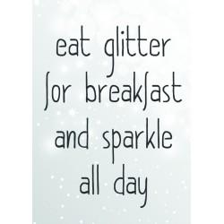 Postcard Design Eat Glitter