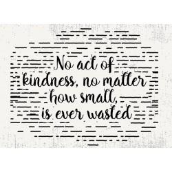 Postcard Design No Act Of Kindness