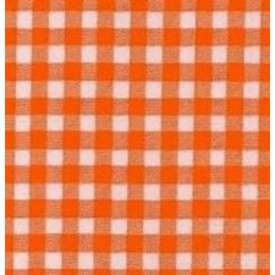 Mexican oilcloth pepita orange - off the roll