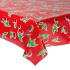 Mexican oilcloth cherry red - off the roll