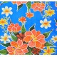 Mexican oilcloth fortin blue - off the roll