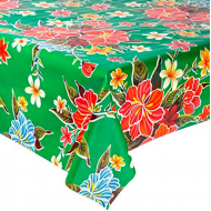 Mexican oilcloth fortin green - off the roll