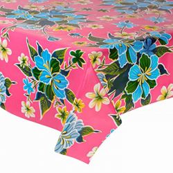 Mexican oilcloth fortin pink - off the roll