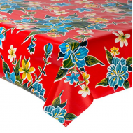 Mexican oilcloth fortin red - off the roll