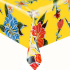 Mexican oilcloth fortin yellow - off the roll