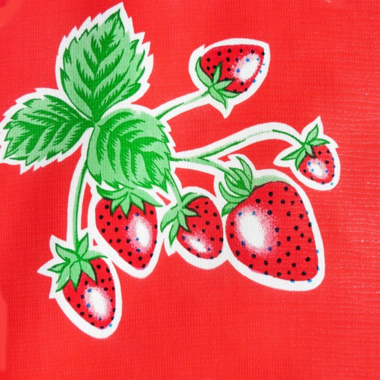 Mexican oilcloth fresas red - off the roll