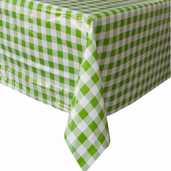 Mexican oilcloth grande pepita lime green - off the roll