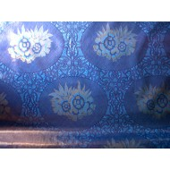 Mexican oilcloth katia blue - off the roll