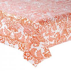 Mexican oilcloth paraiso orange - off the roll
