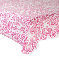 Mexican oilcloth paraiso pink - off the roll