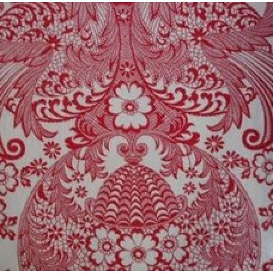 Mexican oilcloth paraiso red - off the roll