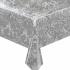 Mexican oilcloth paraiso silver - off the roll