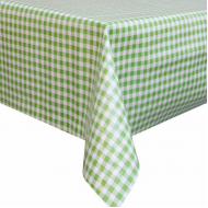 Mexican oilcloth pepita lime - off the roll