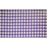 Mexican oilcloth pepita purple - off the roll