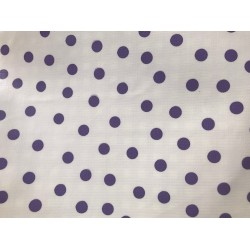 Mexican oilcloth polka purple - off the roll