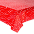Mexican oilcloth polka red - off the roll