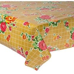 Mexican oilcloth rosedal sand - off the roll