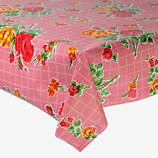 Mexican oilcloth rosedal pink - off the roll