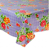 Mexican oilcloth rosedal purple - off the roll
