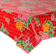 Mexican oilcloth rosedal red - off the roll