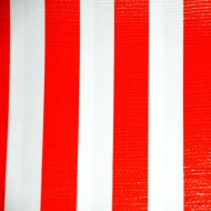 Mexican oilcloth stripes red - off the roll