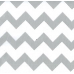 Mexican oilcloth zigzag silver - off the roll